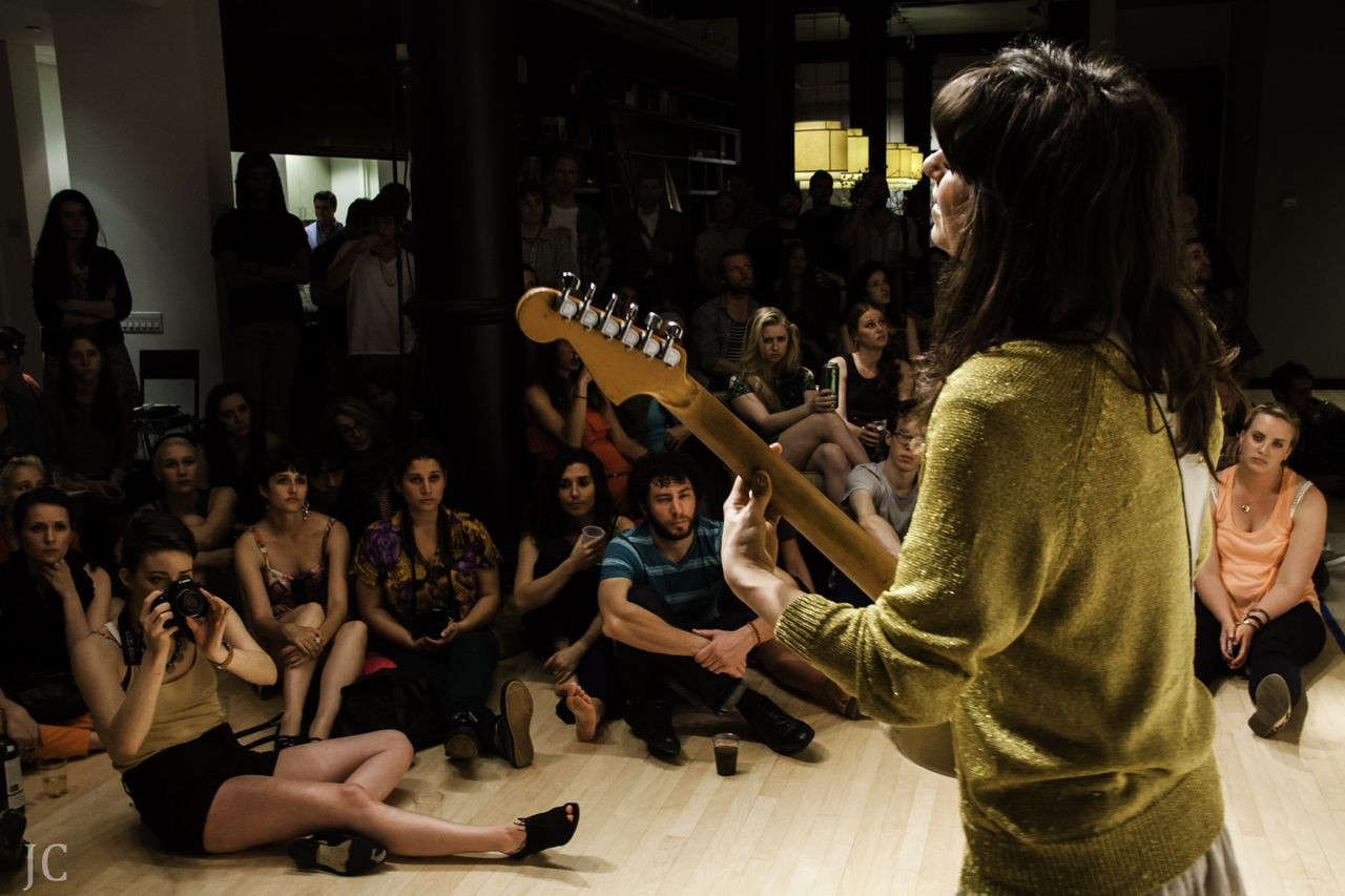 Leah Siegel of Firehorse performs at a Sofar Sounds concert in New York City in 2013. (Photo... [+] courtesy of Sofar Sounds)